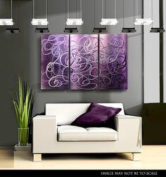 Metal Wall Accents modern abstract metal wall art home decor sculpture purple knight