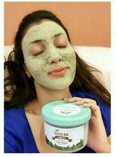Nature green tea face mask natural..