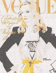 Cate Blanchett Illustration on Vogue Cover