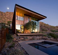 The Jarson Residence was designed as a vessel of personal discovery for two real estate professionals with an educated passion for modern architecture and their two sons. Designed by architecture firm will bruder+PARTNERS in Paradise Valley, Arizona, Cabinet D Architecture, Modern Architecture House, Residential Architecture, Modern House Design, Amazing Architecture, Interior Architecture, Building Architecture, Business Architecture, Residential Land