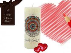 Vybarvěte si obrázek mandaly Love Jaba, Pillar Candles, Taper Candles, Candles
