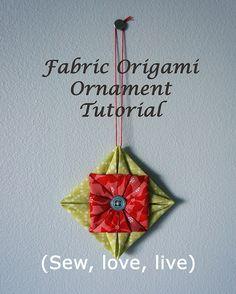 Fabric origami ornament tutorial by Sy-elsk-lev, via Flickr