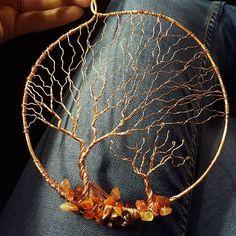 #treelove #copper #carnelian #mookalite #fallenleaves #suncatcher