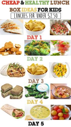 Cheap & Healthy Lunch Box Ideas For Kids - Week #3 Cheap Healthy Lunch, Healthy Meals For Kids, Healthy Foods To Eat, Kids Meals, Healthy Snacks, Healthy Eating, Healthy Recipes, Cheap Lunch Ideas, Healthy Cooking