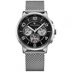 Tommy Hilfiger Men's Sophisticated Sport Stainless Steel Mesh Bracelet Watch 1791292 In Silver Mesh Bracelet, Bracelet Watch, Bracelets, Tommy Hilfiger, Amazing Watches, Stainless Steel Mesh, High Jewelry, Jewellery, Watches For Men