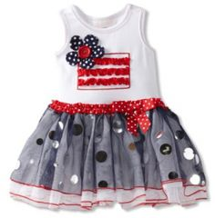 Bonnie Baby Girls Infant Flag Applique Tutu Dress $27.98.  Like our fanpage at www.facebook.com/lovebabyclothes