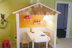 I COULD TOTALLY MAKE THIS! Designer Indoor Playhouses