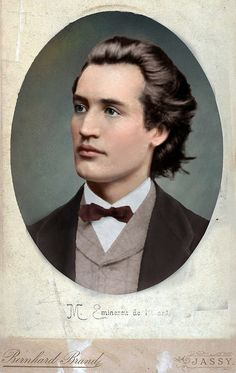 Photographic portrait of Mihai Eminescu posted by Olga. Mihai Eminescu was a Romantic poet, novelist and journalist, often regarded as the most famous and influential Romanian poet. Info via Wikipedia. Vintage Images, Vintage Men, Colorized History, Writers And Poets, Photographs Of People, Daguerreotype, Historical Images, Poses, Pet Portraits