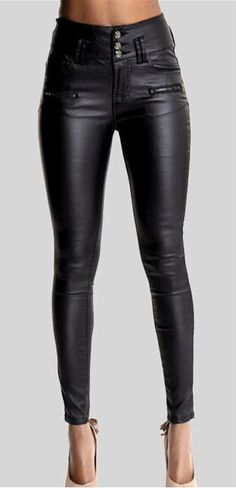 Pu leather pants is very popular now,which can greatly show women¡¯s figure and make you look stylish and cool,you can get one and wear it at your daily time. Material:Cotton Size:34, 36, 38, 40, 42,