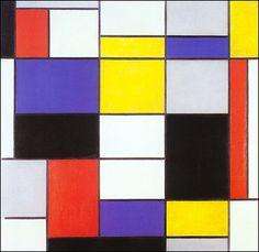 Piet Mondrian - abstract art project idea