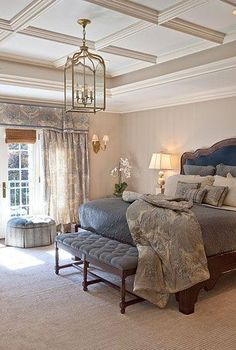 I love the beams in this master bedroom! What if you did this?