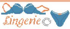 FA001- Grille gratuite point de croix - Lingerie - Caielle & Cadiera