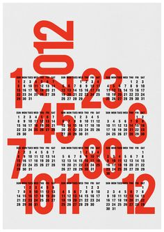 Via Edubarba (Etsy) | Graphic Calendar