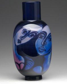 Eva Englund (Swedish, 1937-1998), Orrefors, Graal Glass Vase. (Enlarge)