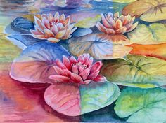 Waterlilies- Experimenting Judi Betts