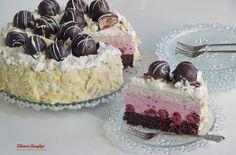 Bibimoni Receptjei: Rumos meggyes gesztenyetorta Vanilla Cake, Cheesecake, Food, Cheese Cakes, Eten, Cheesecakes, Meals, Diet