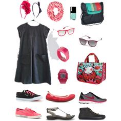 """Think pink"" by divineshape on Polyvore"