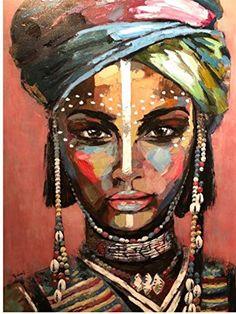 Handmade Oil Painting On Canvas Abstract Painting Abstract Art Dark Ab – radishral Oil Painting Abstract, Abstract Canvas, Canvas Art Prints, L'art Du Portrait, Black Girl Art, Black Art, Inspiration Art, Afro Art, Human Art