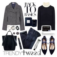 """""""Trendy Tweed"""" by helenevlacho ❤ liked on Polyvore featuring Tory Burch, 7 For All Mankind, Acne Studios, Steve Madden, Mulberry, Just Acces, Bobbi Brown Cosmetics, women's clothing, women and female"""