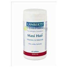 LAMBERTS MAXI HAIR 60tabs Hair Vitamins, Vitamins And Minerals, Coconut Oil, Jar, Vitamins For Hair, Glass, Coconut Oil Uses, Jars