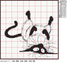 Cross-stitch Siamese Cat - I hope the chart points are visible when enlarged, if not, still a good model to try Just Cross Stitch, Beaded Cross Stitch, Crochet Cross, Cross Stitch Animals, Crochet Chart, Cross Stitch Charts, Cross Stitch Designs, Cross Stitch Embroidery, Embroidery Patterns