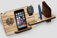 iPhone 6s Dock Station solid wood gift for men от LovelyLadyCat