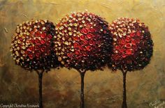 Modern Textured Palette Knife Paintings
