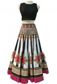 Trendy Collection White and Black Lehenga Choli By Shreya Corporation