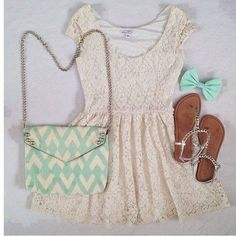 summer outfits I would need jeans or shorts or something under this but I LOVE the colors and look Cute Summer Outfits, Girly Outfits, Spring Outfits, Spring Clothes, Cute Fashion, Teen Fashion, Womens Fashion, Runway Fashion, Fashion Outfits