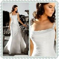 Sweep Stain Applique Custom-Made Wedding Dress  There really are some lovely gowns at this site. :-)