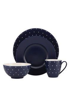 kate spade new york 'larabee dot' 4-piece dinnerware place setting