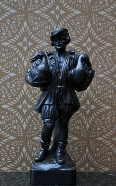 Bronze Skulptur Nürnberger Gänsemännchen Gg Leykauf