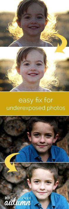 here's a way to save all those dark or underexposed photos - and it's super easy! great step by step instructions. photography editing