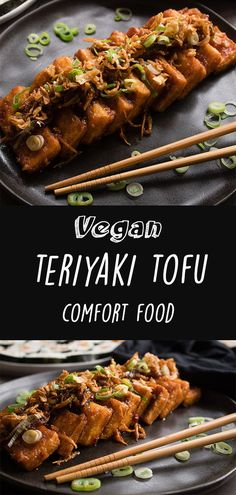 This is my teriyaki tofu recipe! It's very delicious alongside some vegan sushi or noodles! This is my teriyaki tofu recipe! It's very delicious alongside some vegan sushi or noodles! Vegan Dinner Recipes, Vegan Dinners, Veggie Recipes, Whole Food Recipes, Meat Appetizers, Appetizer Recipes, Vegan Japanese Food, Japanese Vegetarian Recipes, Teriyaki Tofu