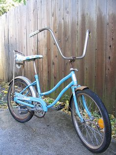 Mine was gold, with a sparkly gold seat and sparkly gold streamers.  I also had a pink and white woven basket.