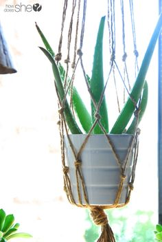 DIY Macrame and Health House Plants   #howdoesshe #macrame #houseplants #planthanger #diymacrame #macrameforplants howdoesshe.com
