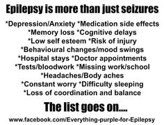 Memory problems (as simple as just trying to finish or remember sentence when talking) and mood swings. Epilepsy Facts, Epilepsy Quotes, Epilepsy Awareness Month, Temporal Lobe Epilepsy, Epilepsy Seizure, Seizure Disorder, Memory Problems