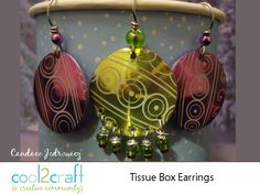 Tissue Box Earrings by Candace Jedrowicz