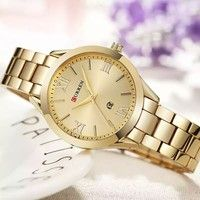 7c5e88ad2b5 Comprar CURREN 9007 Relógio De Ouro Rosa Mulheres Relógios de Quartzo Das  Senhoras Top Marca de