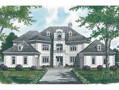 Eplans New American House Plan - Irresistible Craftsman-Style - 8166 Square Feet and 5 Bedrooms from Eplans - House Plan Code HWEPL01452
