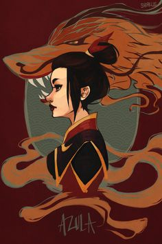 Azula from Avatar: The Last Airbender, princess/fire lord/resident badass of the Fire Nation. azula - fire cannot kill a dragon Avatar Aang, Avatar Legend Of Aang, Avatar The Last Airbender Art, Team Avatar, Legend Of Korra, Zuko, Avatar Series, Fanart, Iroh