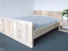HandMade Chunky Rustic Reclaimed Wood Plank King Size Bed Clear Finish in Home, Furniture & DIY, Furniture, Beds & Mattresses Bedroom Design, Diy Bed, Wooden Bed, Rustic Furniture Design, Bed, Furniture, Home Furniture, Bedroom Decor, New Beds