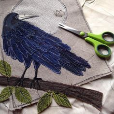Nooooooooo! I've just finished stitching this rook and he's almost ready to be framed, then I decided to give him a quick iron and end up burning a bloomin' hole in the moon. I think it's going to be one of those days!!! Sadly I don't think he'll be making an appearance at #feilenabealtaine this weekend. #swinkydoo #accidentswillhappen #morehastelessspeed