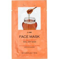 H&M Face mask ($0.64) ❤ liked on Polyvore featuring beauty products, skincare, face care, face masks, fillers, beauty, makeup, cosmetics, orange fillers and honey