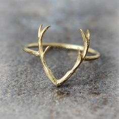 Deer Antler Ring / choose your color, gold and silver by laonato on Etsy https://www.etsy.com/listing/213226071/deer-antler-ring-choose-your-color-gold