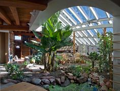 Built from 2006-2007, this project involved a complete renovation of the interior greenhouse space at the infamous headquarter's building of Rocky Mountain Institute. This miniature jungle is located at 7100' elevation in the Rocky Mountains, and reliably produces banana crops using organic gardening methods and only solar heating.