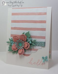 Stampin' Up! Watercolor Wishes With Botanical Blooms