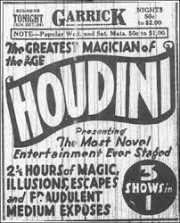Resultado de imagen para Teatro Garrick houdini