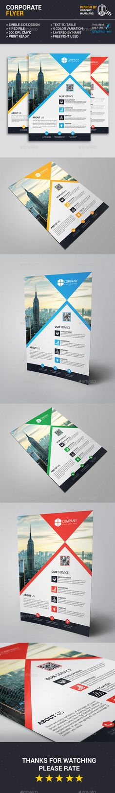 Cprporate Flyer Template PSD. Download here: https://graphicriver.net/item/corporate-flyer-template/16976142?ref=ksioks