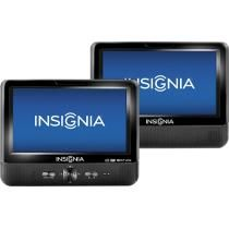 "Insignia™ - 9"" Dual TFT-LCD Portable DVD Player $130 Best Buy"